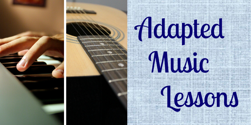 Adapted Music Lessons Button